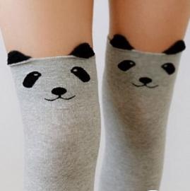 PANDA KNEESOCKS GREY