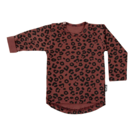 TEE RED LEOPARD LONG