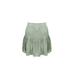 Satin jade-skirt