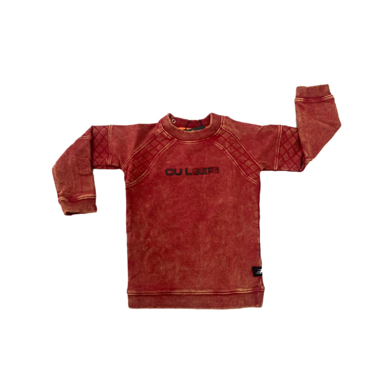 WASHED SWEATER RED