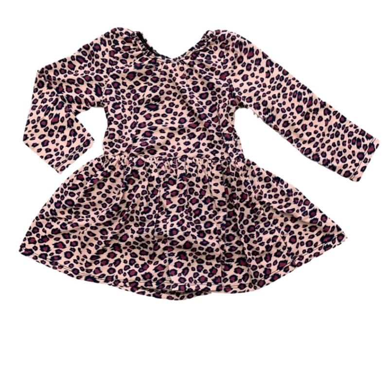 CHEETAH PINK DRESS (ROMPERJURK)