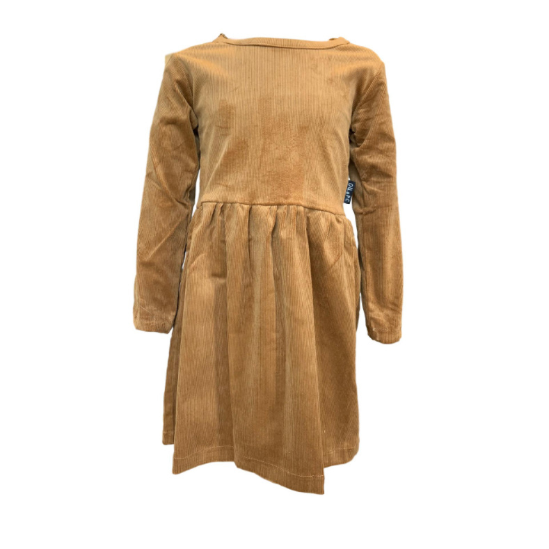 CORDUROY DRESS CHESTNUT