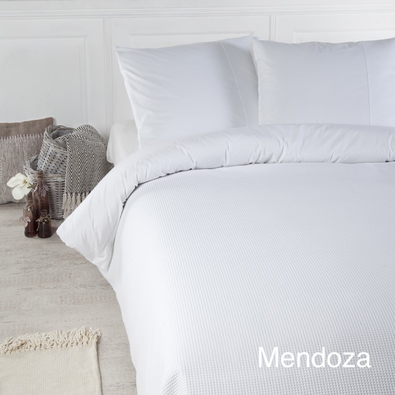 Papillon Mendoza White Dekbedovertrek