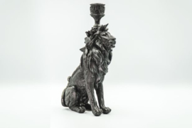 Housevitamin Lion Candle Holder Black