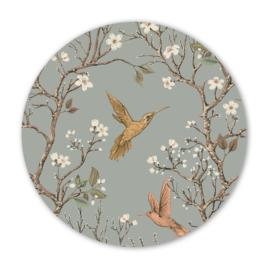 Wooncirkel vintage kolibrie  - 30cm