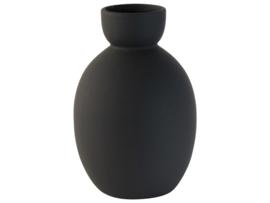 Gusta vaas zwart ø12,6x19cm