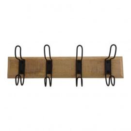 Kapstok  hout met 4 hangers