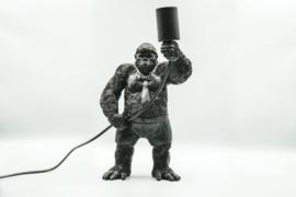 Housevitamin Standing Gorilla Lamp Black