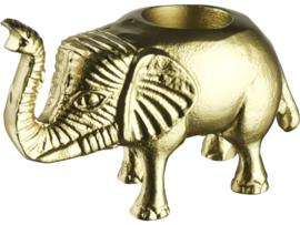 Theelichthouder olifant goud