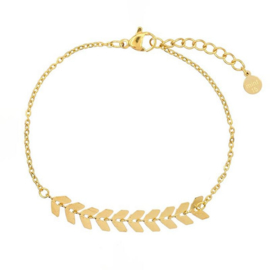 Armband Fishtail - Goldplated Stainless Steel