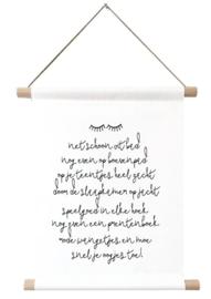 Textielposter bedtijd gedichtje - Winkeltje van Anne