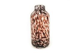 Housevitamin vase white cheetah 15x32 cm
