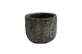 Pot lava steengrijs 12x12x10