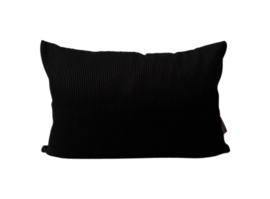 KMCT | INDOOR & OUTDOOR USE | sierkussen 'rib black' 60x40 cm