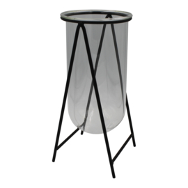 Housevitamin black Metal Vase Holder