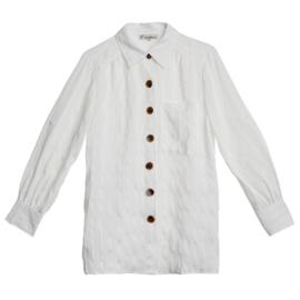Witte blouse met knopen