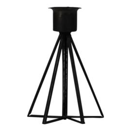 Housevitamin kandelaar met glas - zwart
