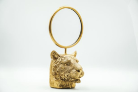 Housevitamin Tiger head Mirror Gold