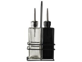 Olie & azijn set - zwart