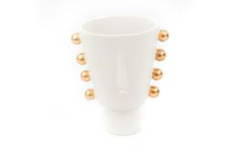 Housevitamin in your face vase golden hair white
