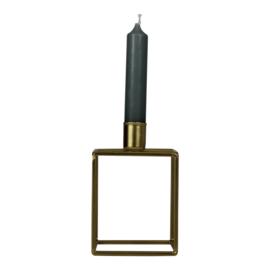 Housevitamin kandelaar vierkant - goud