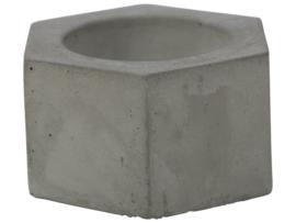 Theelichthouder cement