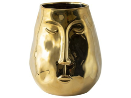 Gusta vaas gezicht goud