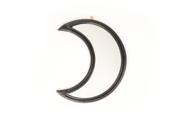 Housevitamin moon mirror rattan zwart