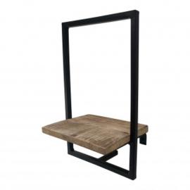 Wandrek hout & metaal klein