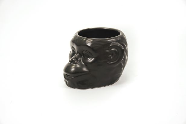 Housevitamin monkey plant pot  black