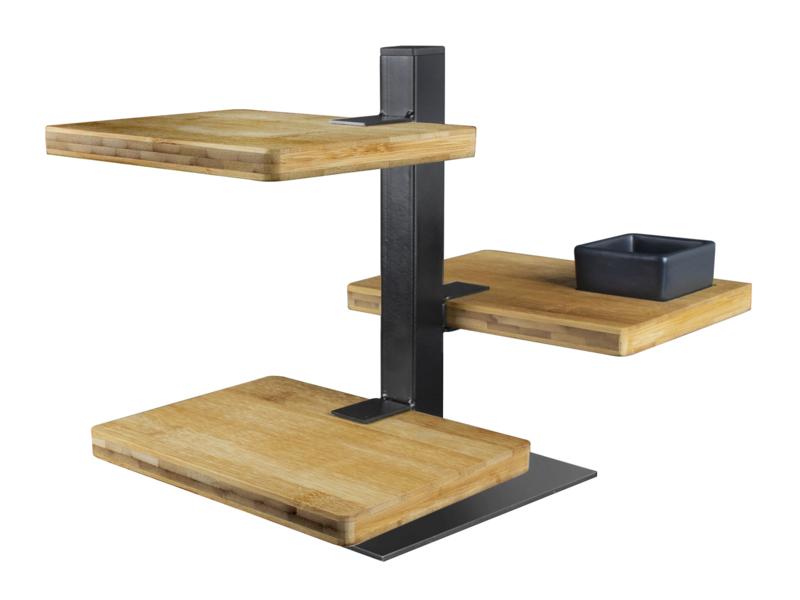 Serveertoren Gusta  - 3 bamboe planken