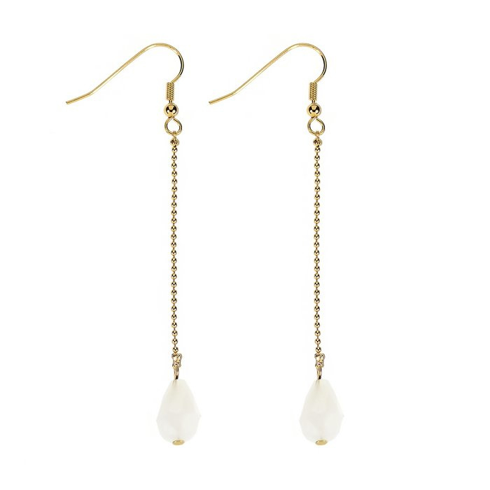 Oorbellen Crystal Drops – Slightly White