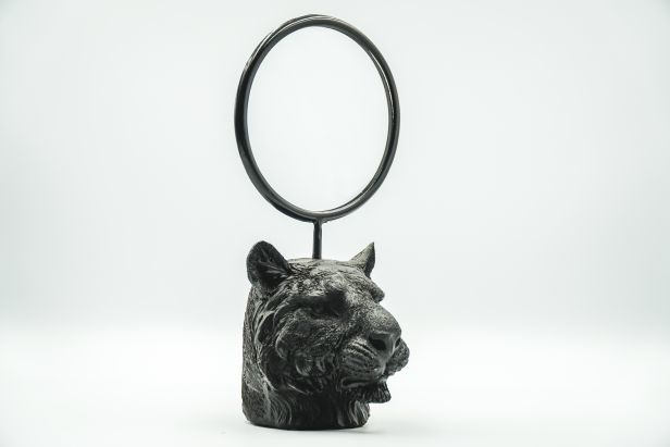 Housevitamin Tiger head Mirror Black