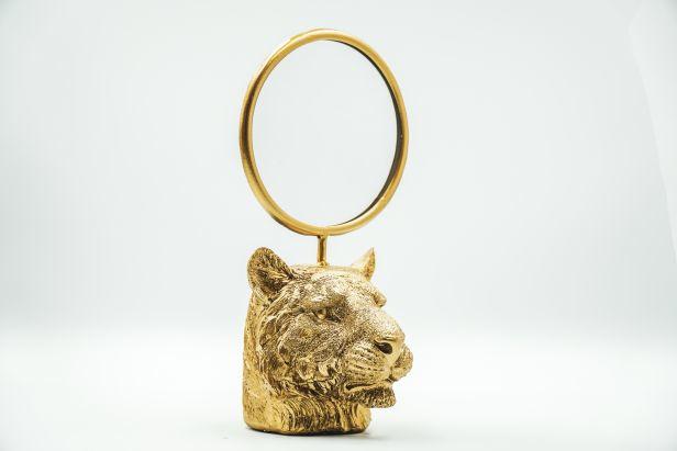Housevitamin Tiger head Mirror Gold