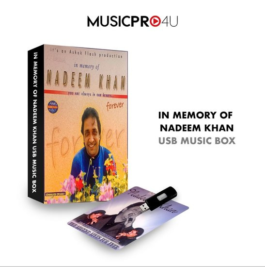 IN MEMORY OF NADEEM KHAN USB MUSIC BOX