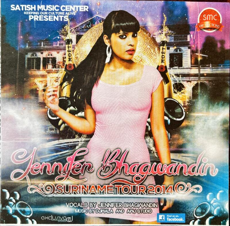 JENNIFER BHAGWANDIN SURINAME TOUR 2014