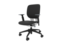 LIM Klöber bureaustoel  gestoffeerde zitting en rug.