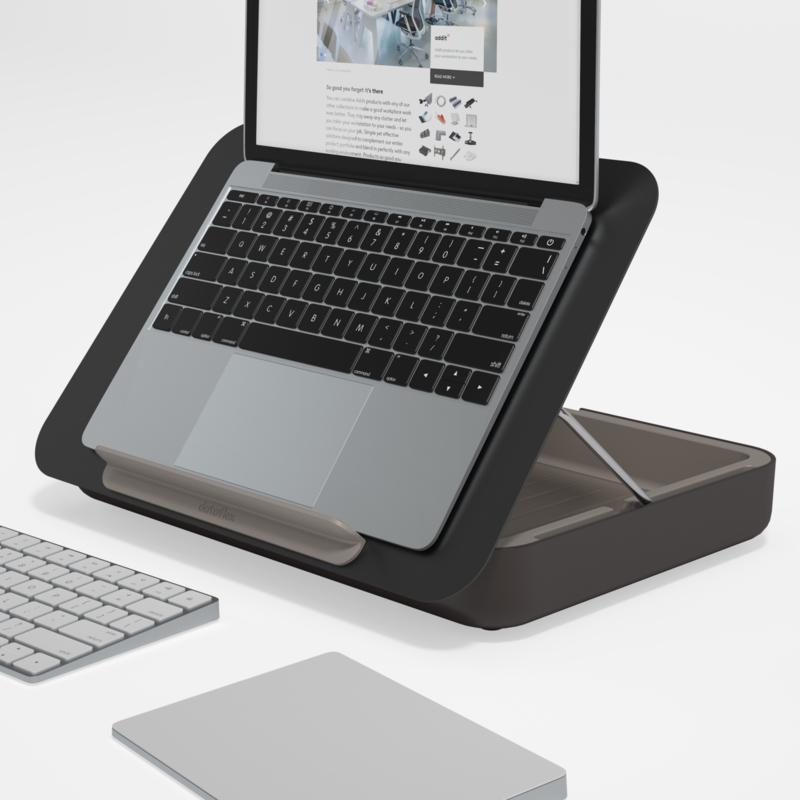 Laptop-tablet steun en opbergbox Bento