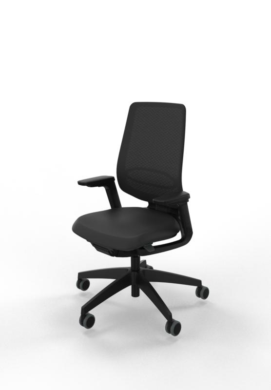 Bureaustoel Sedus Se-Flex zwart netbespanning of slimline bekleding