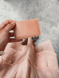 Bali card holder, peach