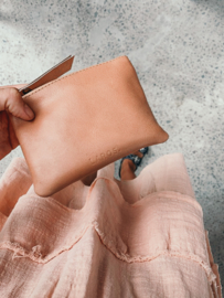 Clutch/wallet, small - peach