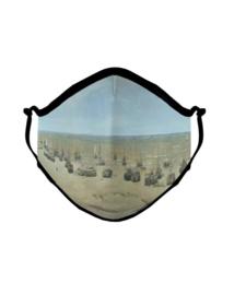 Mondkapje Panorama Mesdag, strand