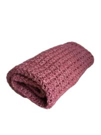 Gehaakte deken Roze