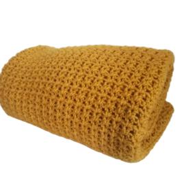 Gehaakte deken Oker