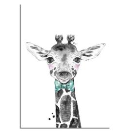 Giraffe Strikje Poster