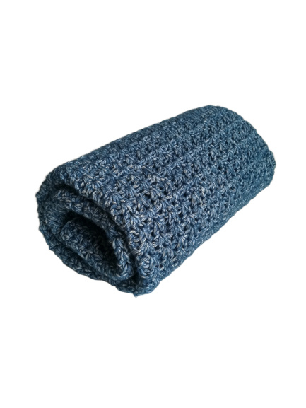 Gehaakte deken Blauw
