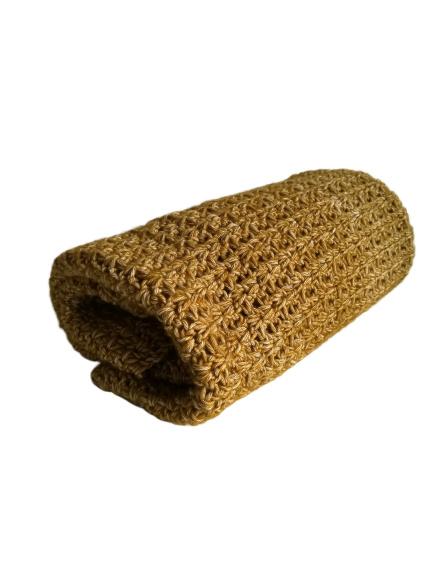 Gehaakte deken Mosterdgeel