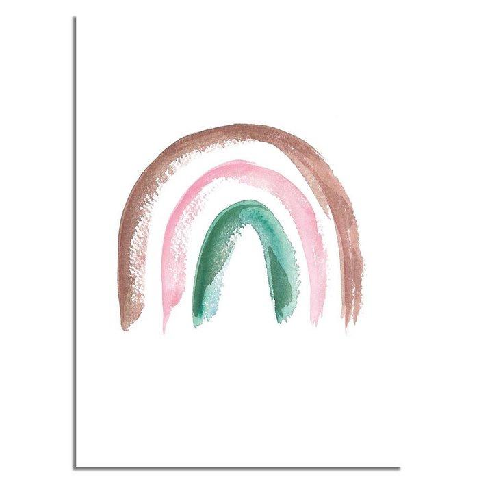 Regenboog Poster Bruin Roze Groen