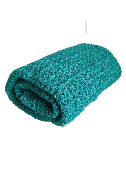 Gehaakte deken Turquoise