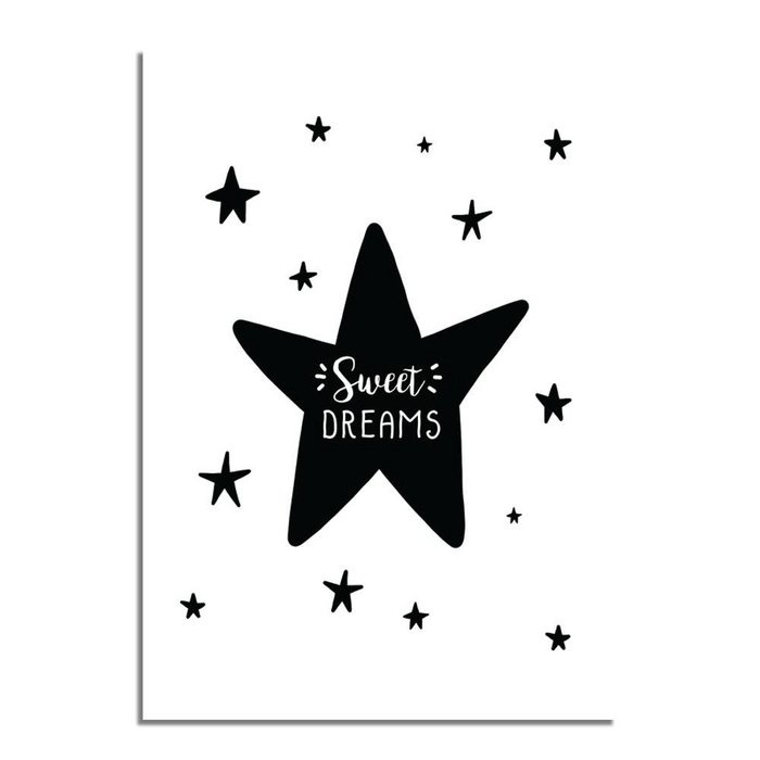 Sweet Dreams Ster Zwart/Wit